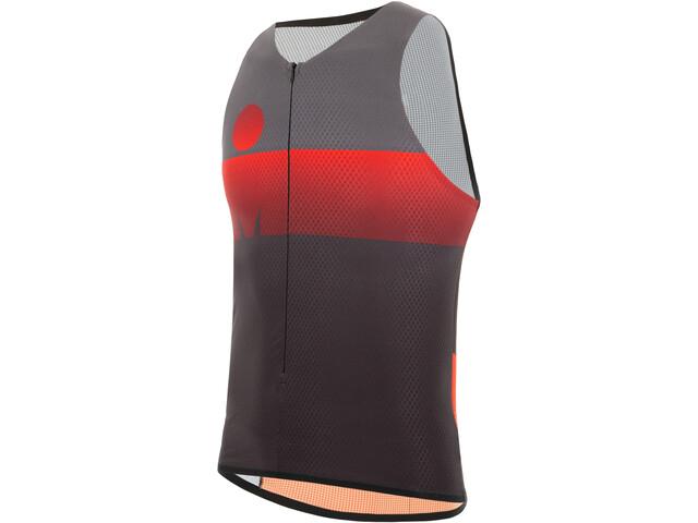 Santini Audax Aero Triathlon Top Heren, red
